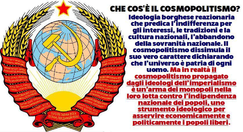 """LA LOTTA MONDIALE CONTRO L'IMPERIALISMO """"COSMOPOLITA"""""""